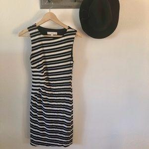 NEW Loft Black White StripeCareer Dress XS
